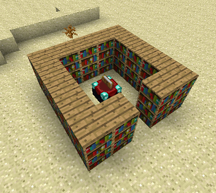 Most Efficient Use Of Bookshelves Around Enchanting Table - Enchantment table bookshelves